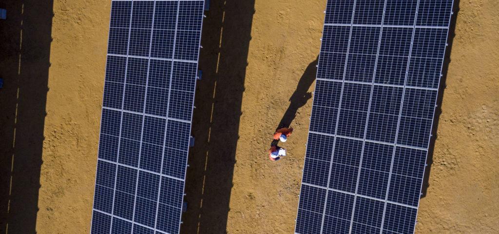 Solar Panels at Sandy Ridge